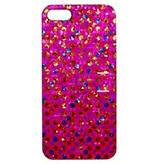 Polka Dot Sparkley Jewels 1 Apple Iphone 5 Hardshell Case With Stand