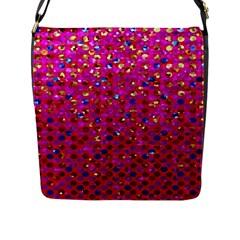 Polka Dot Sparkley Jewels 1 Flap Closure Messenger Bag (large)