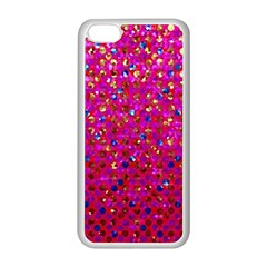 Polka Dot Sparkley Jewels 1 Apple iPhone 5C Seamless Case (White)