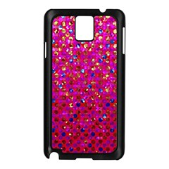 Polka Dot Sparkley Jewels 1 Samsung Galaxy Note 3 N9005 Case (Black)