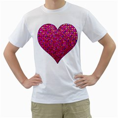 Polka Dot Sparkley Jewels 1 Men s T-Shirt (White)