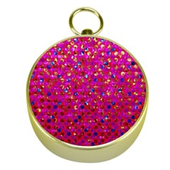 Polka Dot Sparkley Jewels 1 Gold Compass