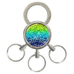 Glitter 4 3-Ring Key Chain