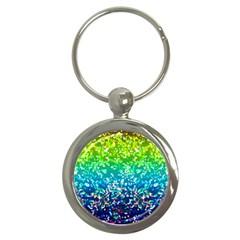 Glitter 4 Key Chain (Round)