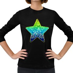 Glitter 4 Women s Long Sleeve T Shirt (dark Colored)