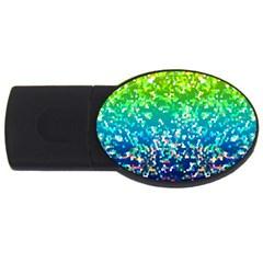 Glitter 4 4gb Usb Flash Drive (oval)