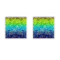 Glitter 4 Cufflinks (square)