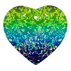 Glitter 4 Heart Ornament (Two Sides)