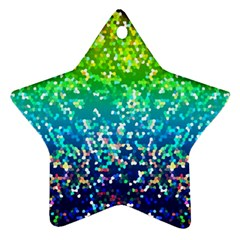 Glitter 4 Star Ornament (Two Sides)