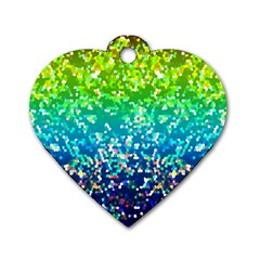 Glitter 4 Dog Tag Heart (One Sided)