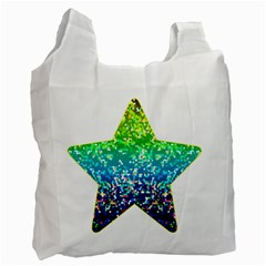 Glitter 4 White Reusable Bag (two Sides)