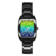 Glitter 4 Stainless Steel Barrel Watch