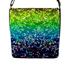 Glitter 4 Flap Closure Messenger Bag (large)