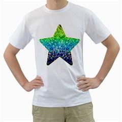 Glitter 4 Men s T Shirt (white)