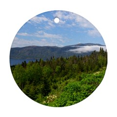 Newfoundland Round Ornament (Two Sides)