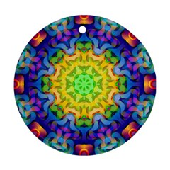 Psychedelic Abstract Round Ornament