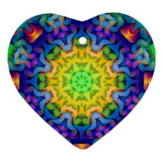 Psychedelic Abstract Heart Ornament