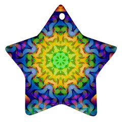 Psychedelic Abstract Star Ornament