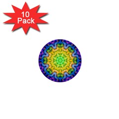 Psychedelic Abstract 1  Mini Button (10 pack)