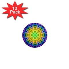Psychedelic Abstract 1  Mini Button Magnet (10 pack)