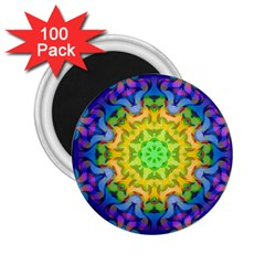 Psychedelic Abstract 2 25  Button Magnet (100 Pack)