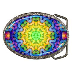 Psychedelic Abstract Belt Buckle (Oval)