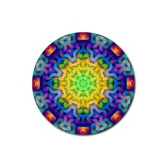 Psychedelic Abstract Drink Coaster (Round)