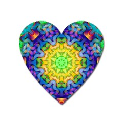 Psychedelic Abstract Magnet (Heart)