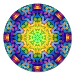 Psychedelic Abstract Magnet 5  (Round)