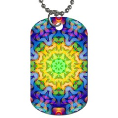 Psychedelic Abstract Dog Tag (one Sided)