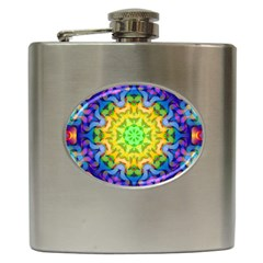 Psychedelic Abstract Hip Flask