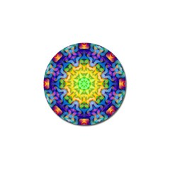 Psychedelic Abstract Golf Ball Marker 4 Pack