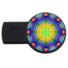 Psychedelic Abstract 2gb Usb Flash Drive (round)