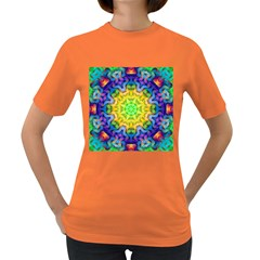 Psychedelic Abstract Women s T Shirt (colored)