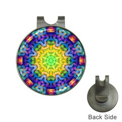 Psychedelic Abstract Hat Clip with Golf Ball Marker