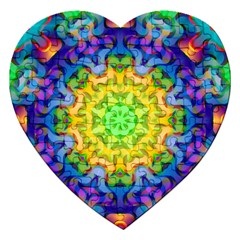 Psychedelic Abstract Jigsaw Puzzle (Heart)