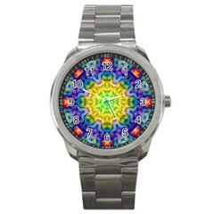 Psychedelic Abstract Sport Metal Watch