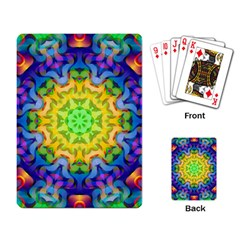 Psychedelic Abstract Playing Cards Single Design