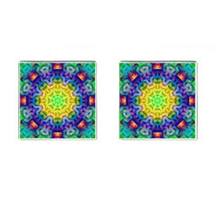 Psychedelic Abstract Cufflinks (Square)