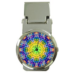 Psychedelic Abstract Money Clip With Watch