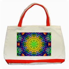 Psychedelic Abstract Classic Tote Bag (Red)