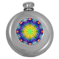 Psychedelic Abstract Hip Flask (Round)