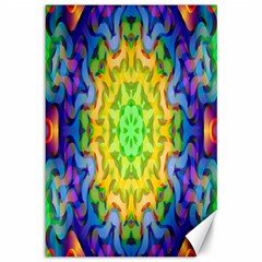 Psychedelic Abstract Canvas 12  X 18  (unframed)