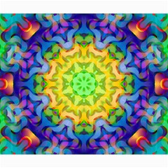 Psychedelic Abstract Canvas 20  X 24  (unframed)