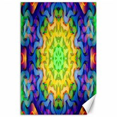 Psychedelic Abstract Canvas 24  x 36  (Unframed)