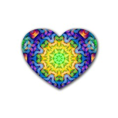 Psychedelic Abstract Drink Coasters (Heart)