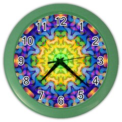 Psychedelic Abstract Wall Clock (Color)