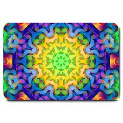 Psychedelic Abstract Large Door Mat