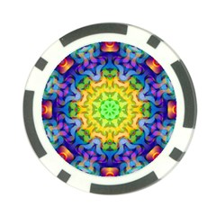 Psychedelic Abstract Poker Chip (10 Pack)