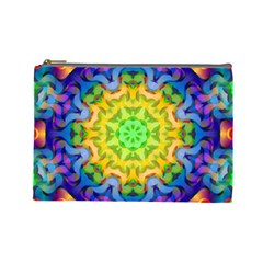 Psychedelic Abstract Cosmetic Bag (Large)